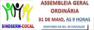 ASSEMBLEIA DIA 31 DE MAIO